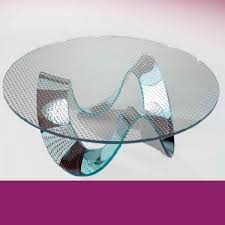 TABLE BASSE EN VERRE RONDE