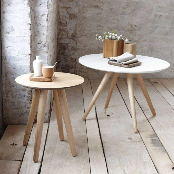 Pourquoi miser sur la table basse ronde en bois - Table basse scandinave ronde ...