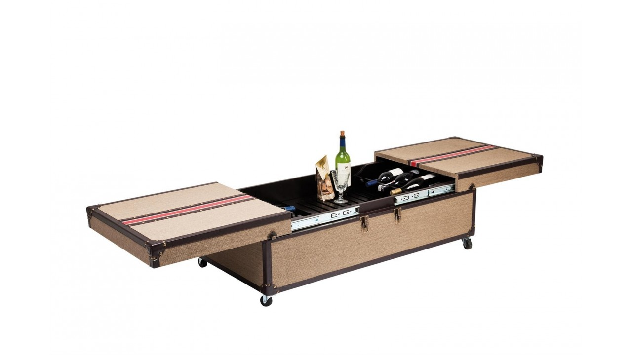 La table basse break out avec bar int gr - Table basse avec rangement bouteille ...