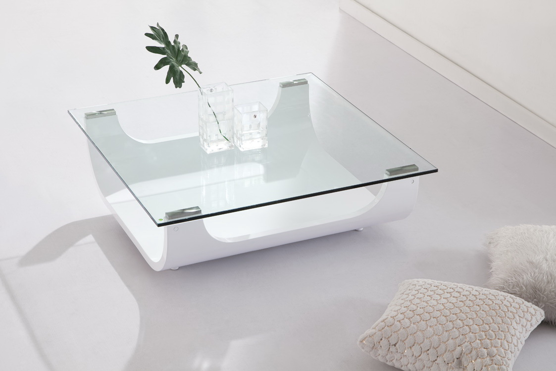 Table basse carree verre - Petite table basse carree ...