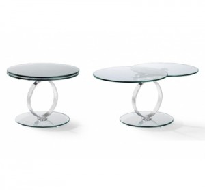 table basse ronde en verre