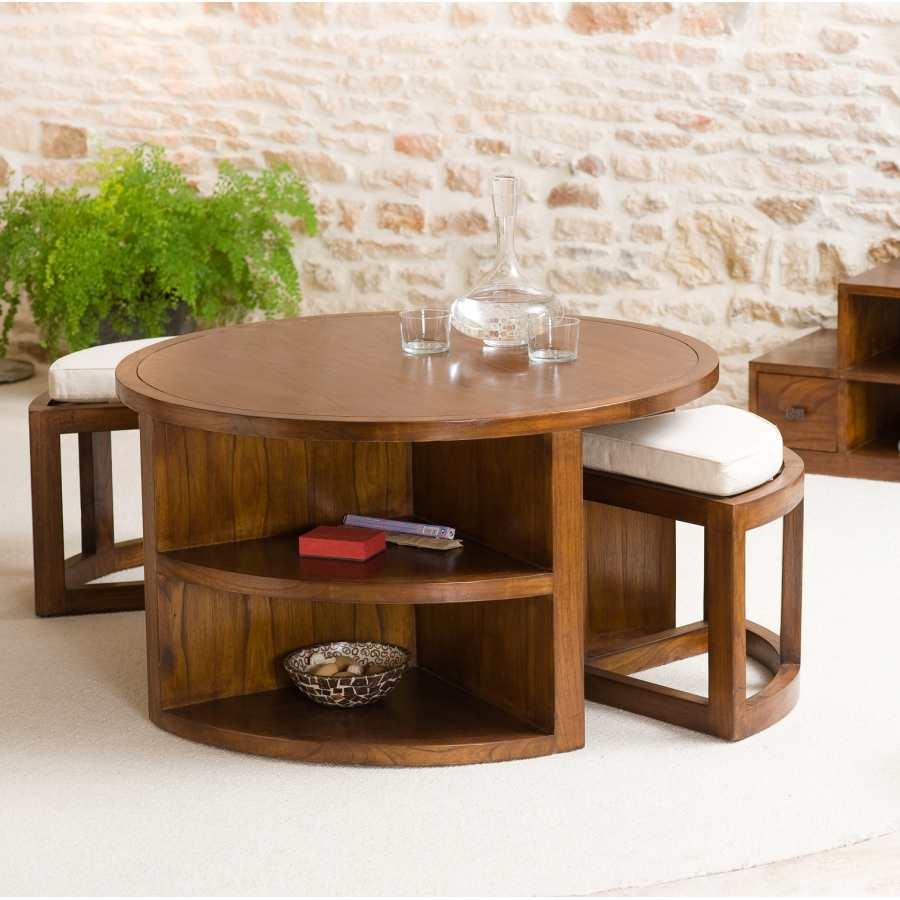 Top 5 des tables basses rondes design - Tables basses rondes en bois ...