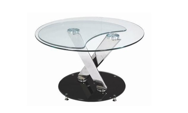 table basse de salon ronde en verre. Black Bedroom Furniture Sets. Home Design Ideas