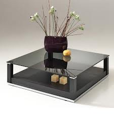 TABLE BASSE EN VERRE CARREE