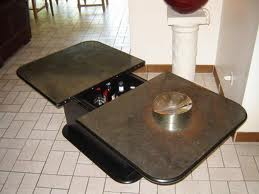 Table basse bar plateau