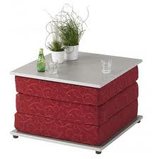 Table basse transformable en couchage