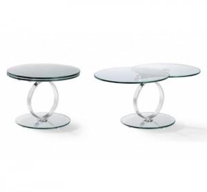 table basse ronde en verre